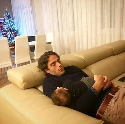 Alessandro Matri con la piccola Sofia