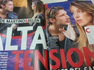 tensione tra Belen e Stefano, lite a Milano