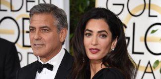 George Clooney e Amal CLooney sul carpet dei Golden Globe